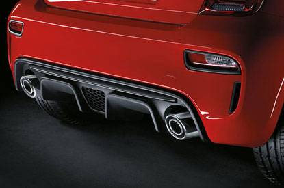 Abarth Dual Exhaust in Satin Steel