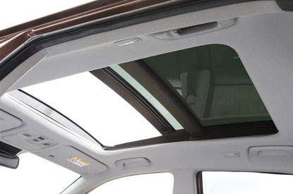 Sliding and Tilting Panoramic Sunroof available on Premium SE Models
