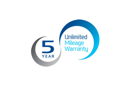 5 Year Unlimited Mileage Warranty for complete peace of mind