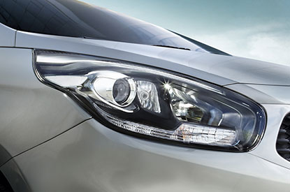 Xenon headlights feature LEDs