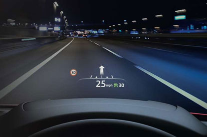 Mazda6 active driving display (optional on some models)