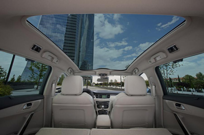 Panoramic Sunroof (Optional on some models)