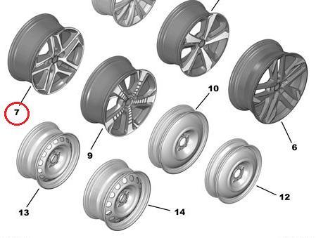 Genuine Alloy Wheel Rim 308 2013-2017 2.0 (150 bhp) Diesel