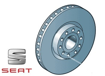 Front Brake Discs Drilled Grooved 312mm SEAT Leon 2.0 TDi 184bhp 13